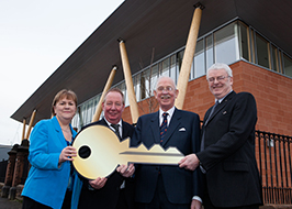 Receiving the keys to The William Quarrier Scottish Epilepsy Centre